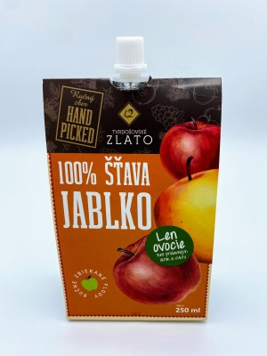 100% Jablková šťava – tekuté ovocie 250ml