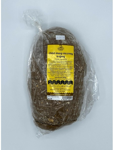 Chlieb tmavý viaczrnný krájaný 600g