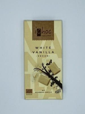 Biela čokoláda s vanilkou vegan Bio 80g ICHOC