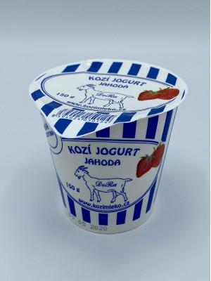Kozí jogurt jahodový 150g
