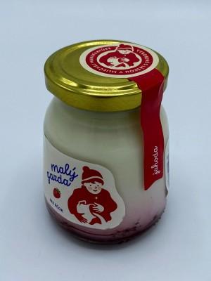 Jogurt bez éčok jahoda 200g
