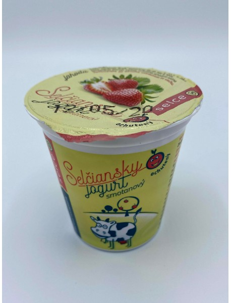 Selčiansky smotanový jogurt - jahoda 150g