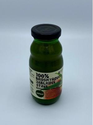 100% broskyňovo-jablková šťava 0,2l
